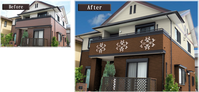 デザイン工法で塗装したお住まい画像